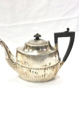 Vintage Antique Silver plated Teapot with Wooden Handle