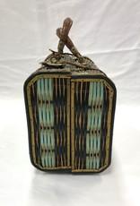 Vintage Vintage English Wicker Traveling Basket