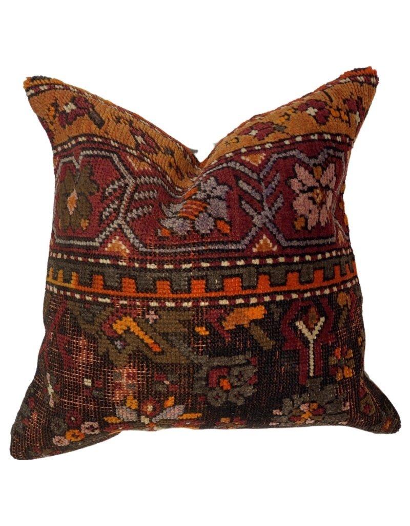"Patrick Charles Carpet Pillow w/ Down Insert - Roy - 20""x20"""