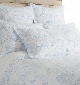 Pom Pom at Home Maya White/Blue Queen Duvet