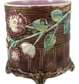 20th Century French Brown Ceramic Majolica Pot