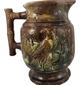20th Century English Traditional Brown Majolica Pitcher
