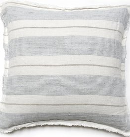 "Pom Pom at Home Laguna Pillow w/ Insert Ocean/Nat 20""x 20"""
