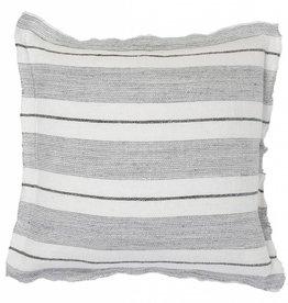 "Pom Pom at Home Laguna Pillow w/ Insert Grey/Charcoal 20""x 20"""