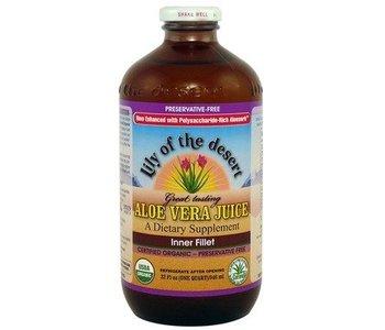 Lily of the Desert Aloe Vera Juice Inner Fillet 946ml Glass