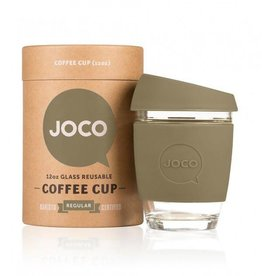 Joco Reusable Glass Cup Olive 12oz