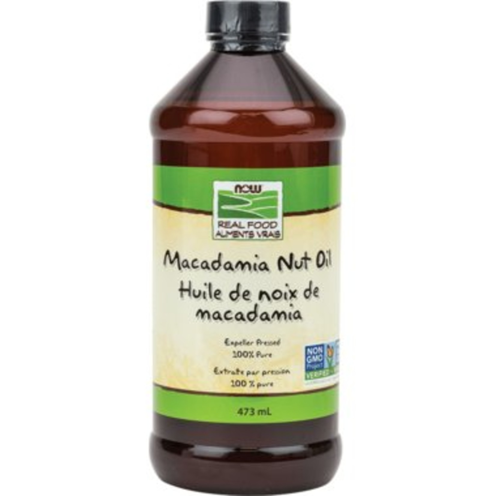 NOW NOW Macademia Nut Oil 100% Pure Expeller Pressed 473ml