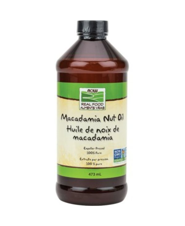 NOW Macademia Nut Oil 100% Pure Expeller Pressed 473ml