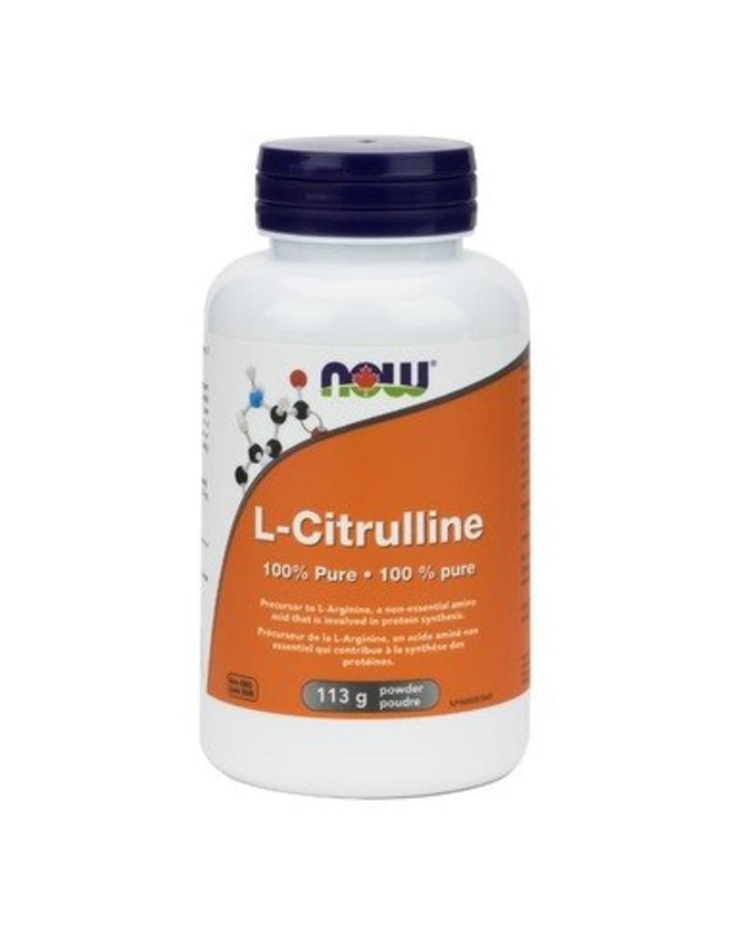 NOW NOW L-Citrulline 100% Pure Powder 113g
