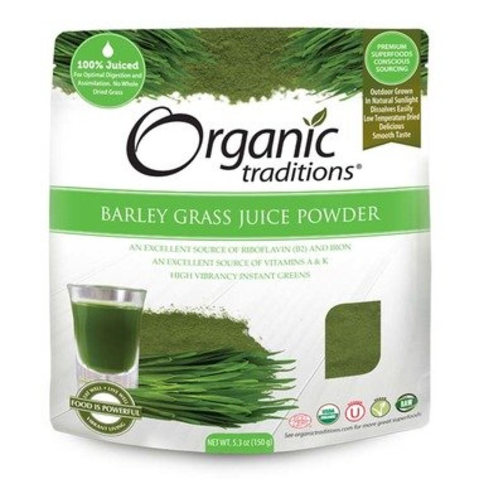 Organic Traditions Barley Grass Juice Powder 150g