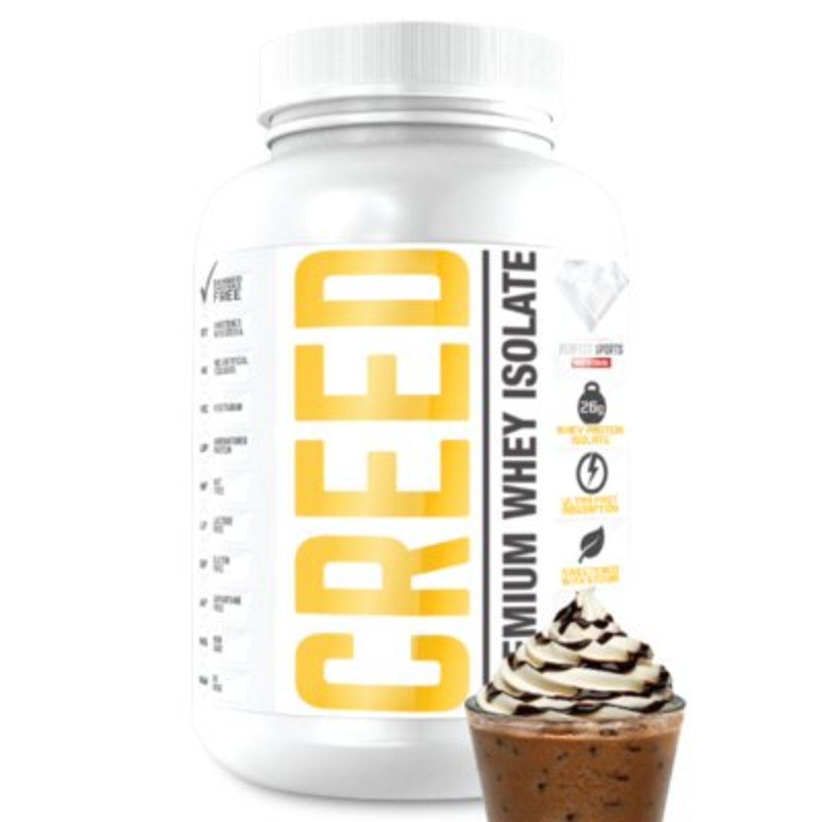 Perfect Sport Creed Whey Protein Isolate Iced Mochaccino 1.6lb