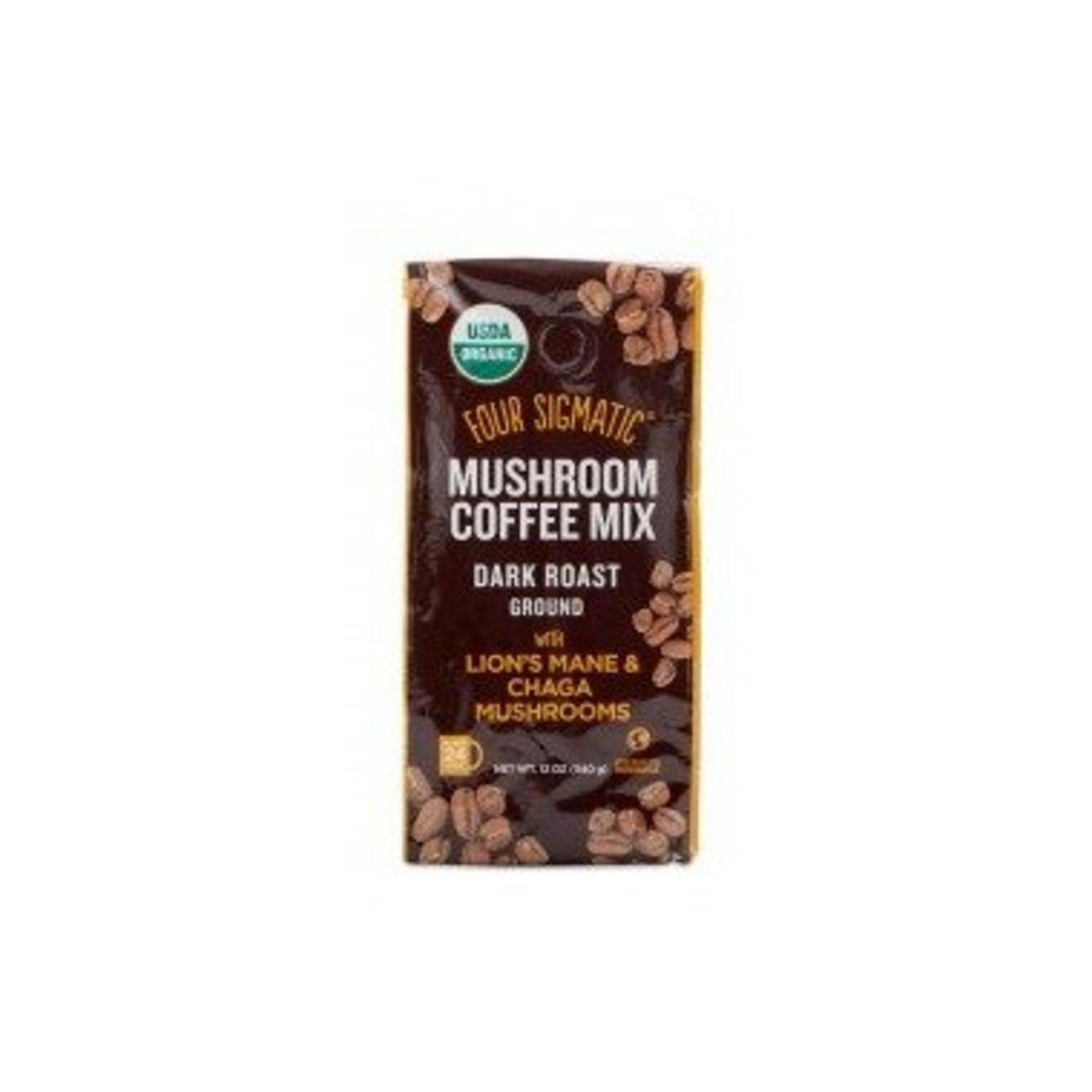 Four Sigmatic Mushroom Coffee Mix Dark Roast with Lion's Mane and Chaga 12oz