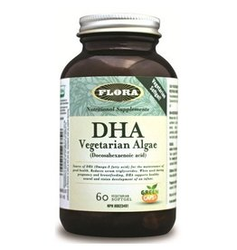 Flora DHA Vegetarian Algae 60 softgels