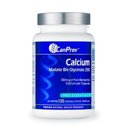 Can Prev Calcium Malate Bis Glycinate 200mg 120 caps
