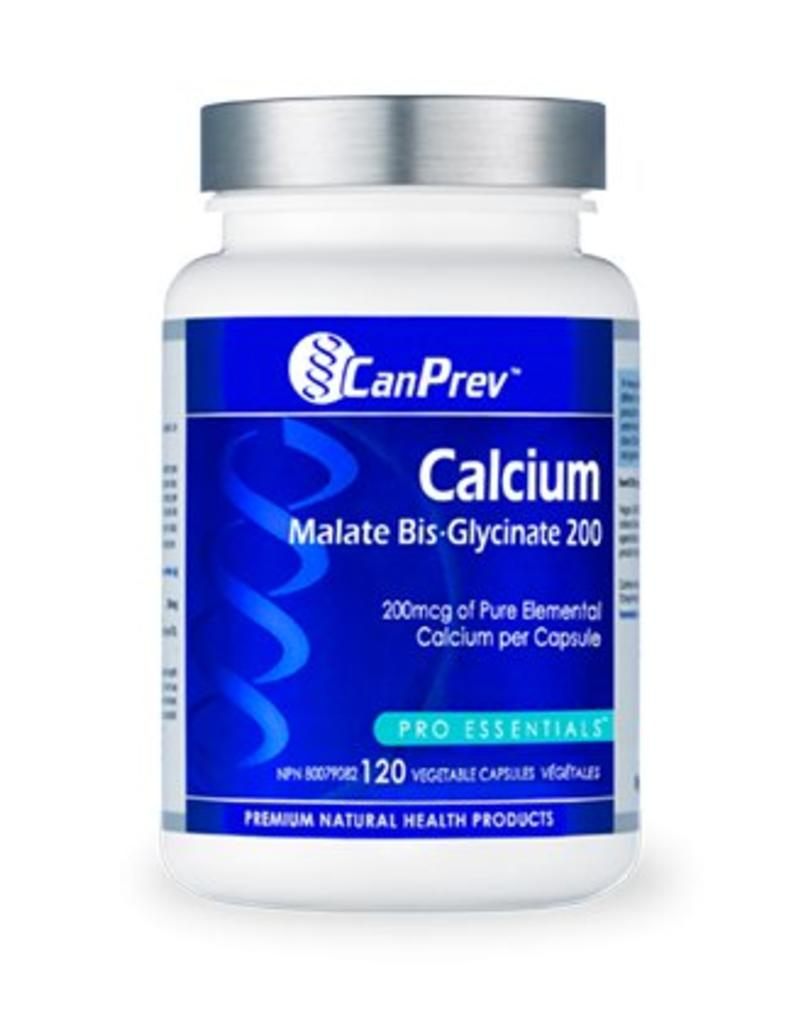 Can Prev Calcium Malate Bis Glycinate 200mg 120 caps