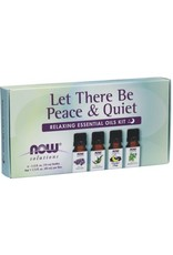 NOW Let There Be Peace & Quiet Essential Oil Kit