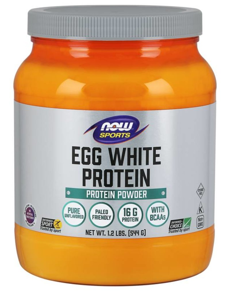 NOW NOW Egg White Protein Unflavoured 545g