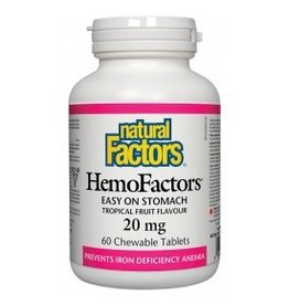 Natural Factors Hemo Factors Chewable Iron 20mg 60 tabs