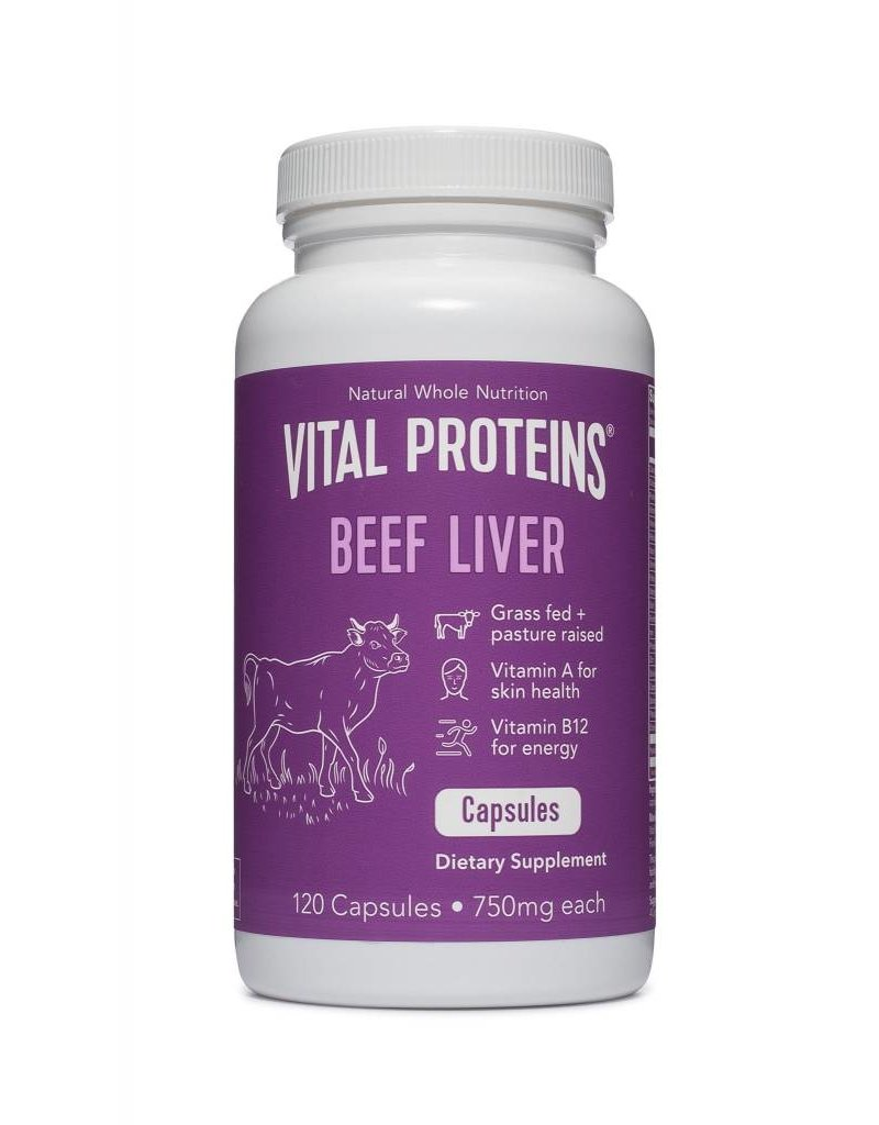 Vital Proteins Beef Liver 750mg 120 Caps