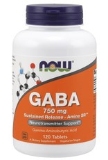 NOW GABA 750mg sustained release 120 tabs