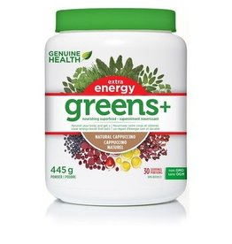 Genuine Health Genuine Health Greens+ Extra Energy Cappuccino 445g