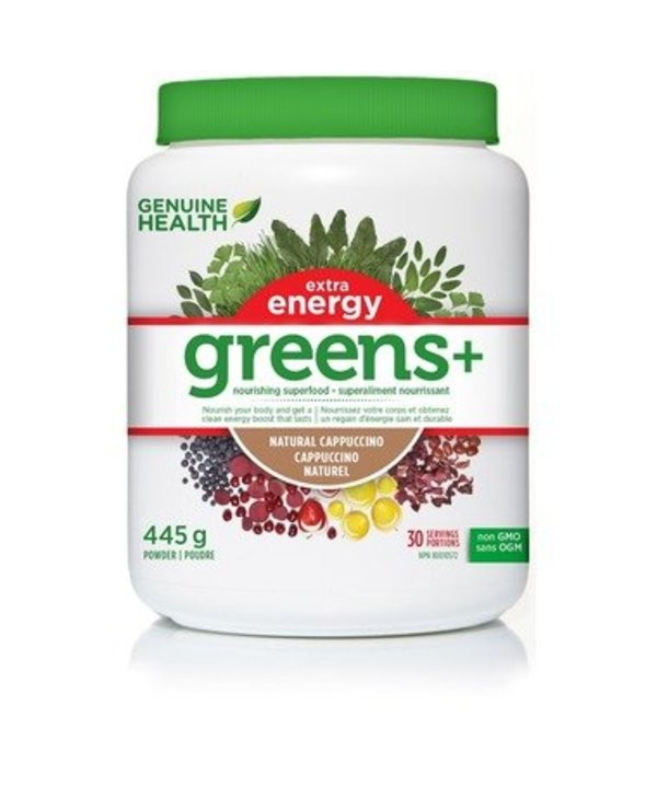 Genuine Health Greens+ Extra Energy Cappuccino 445g