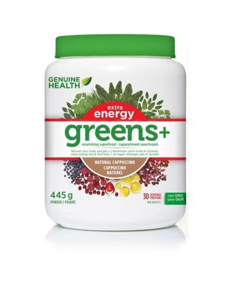 Genuine Health Genuine Health Greens+ Extra Energy Cappuccino 445g