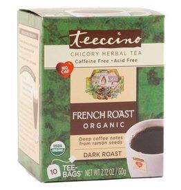 Teeccino Roasted Herbal Tea French Roast 10 Tea Bags