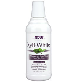 NOW NOW Xyliwhite Mouthwash Neem and Tea Tree 16oz