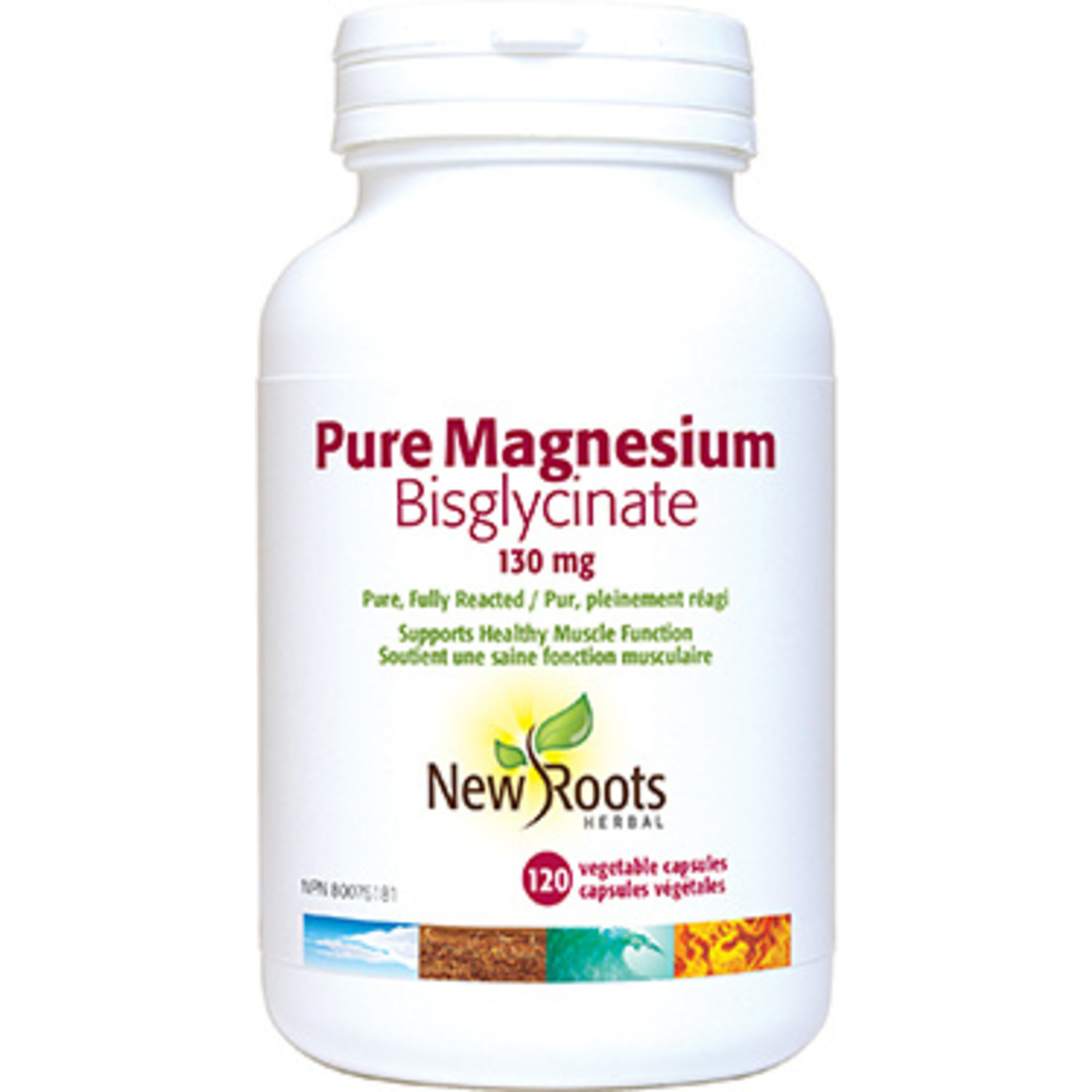 New Roots New Roots Pure Magnesium Bisglycinate 130mg 60 caps