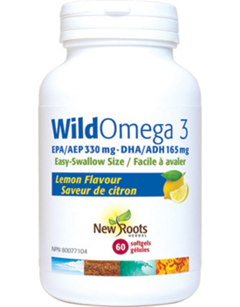 New Roots New Roots Wild Omega 3 - Lemon 60 softgels