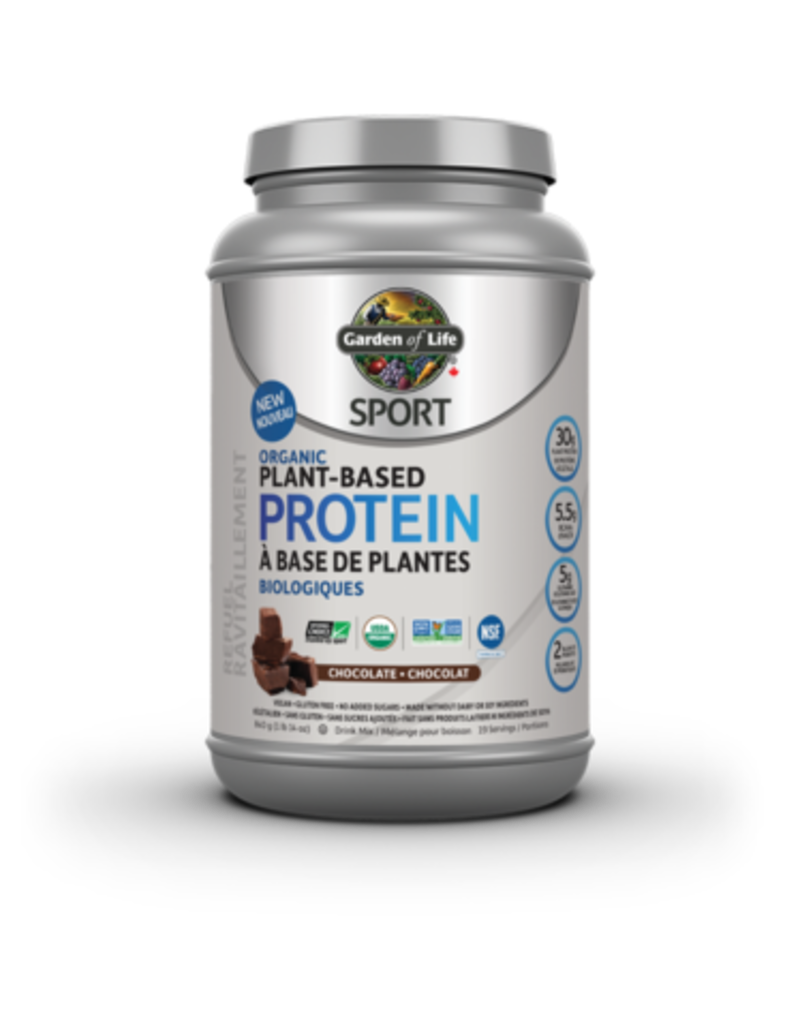 Garden Of Life Sport Organic Plant-Based Protein- Chocolate 840g
