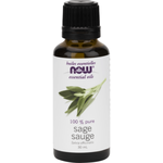 NOW NOW Sage Essential Oil 100% Pure 30ml