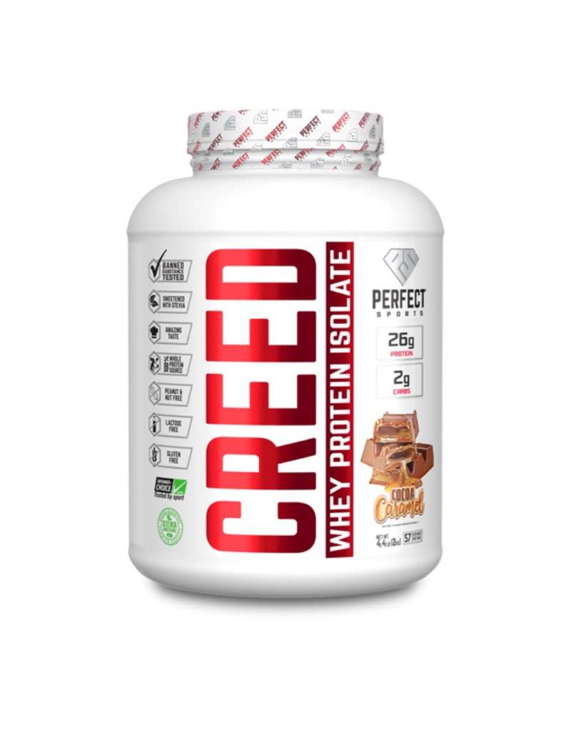 Perfect Sport Creed Whey Protein Isolate- Cocoa Caramel 1.6 lbs