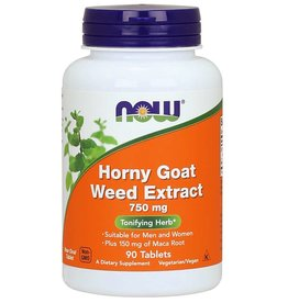NOW Horny Goat Weed Extract 750mg 90 tabs