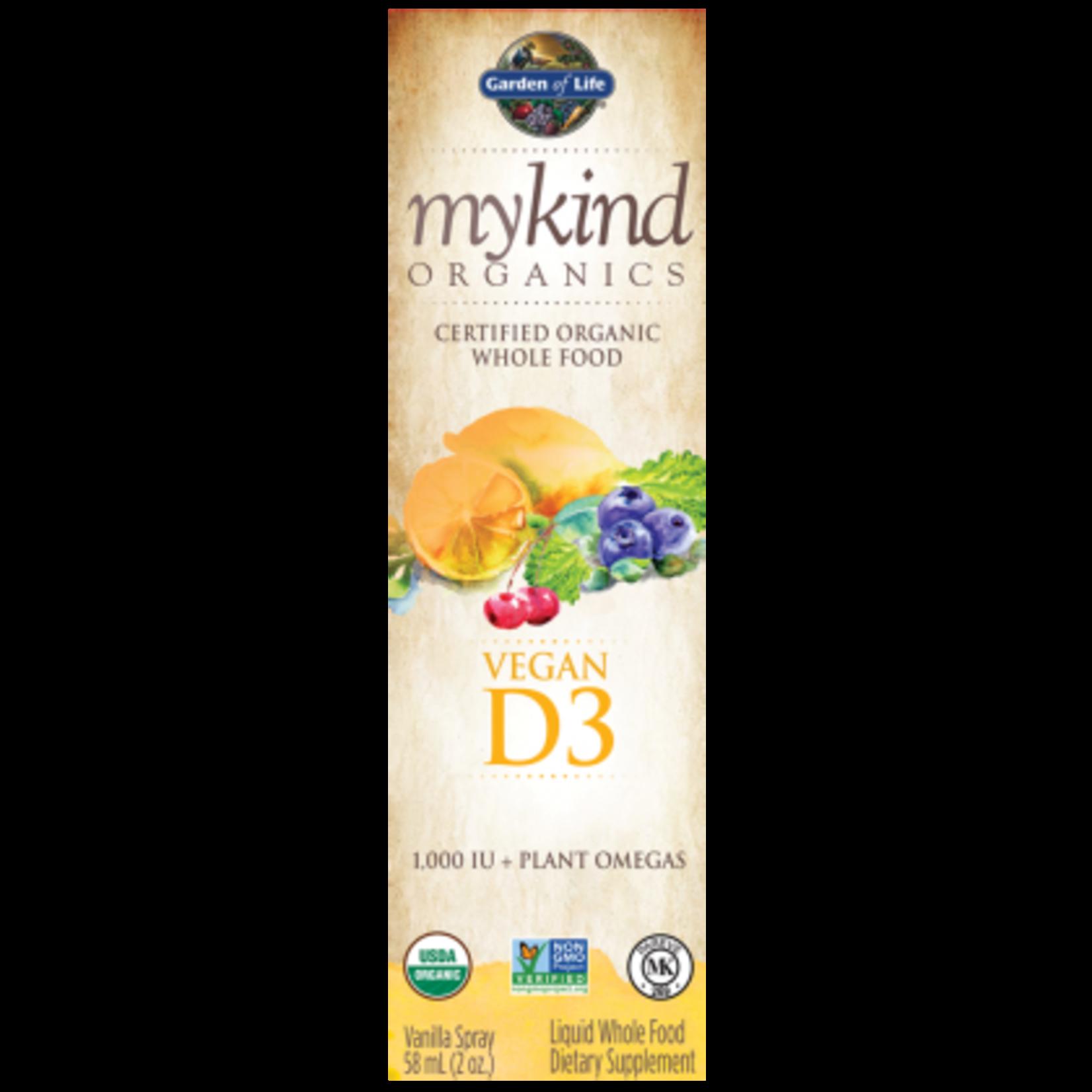 Garden Of Life My Kind Organics Vegan D3 Organic Spray 58ml