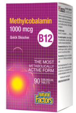 Natural Factors Natural Factors B12 Methylcobalamin 1000mcg 90 tabs