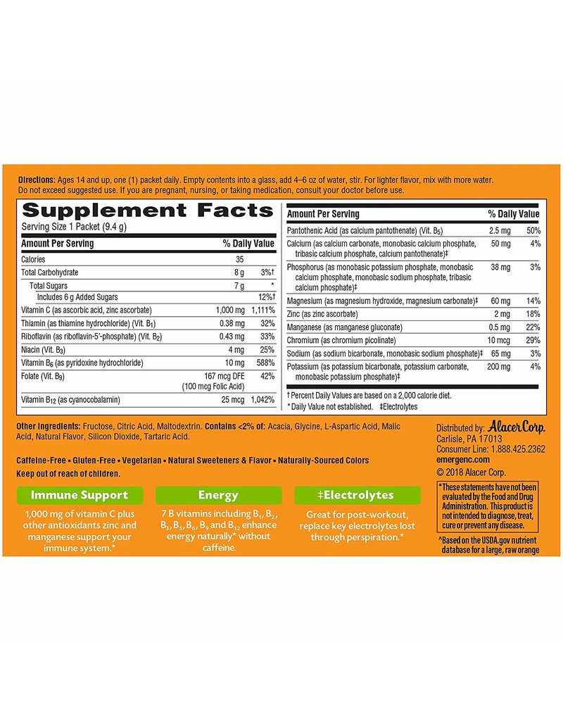 Ener-C Ener-C Vitamin C 1000mg-Lemon Lime 30 packets