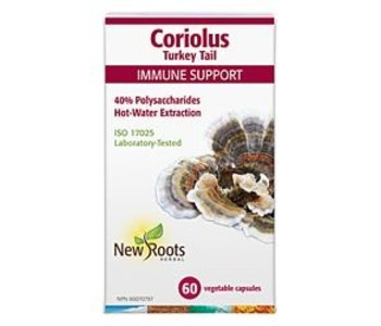New Roots Coriolus Turkey Tail 60caps