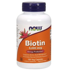 NOW NOW Biotin 5000mg 120caps