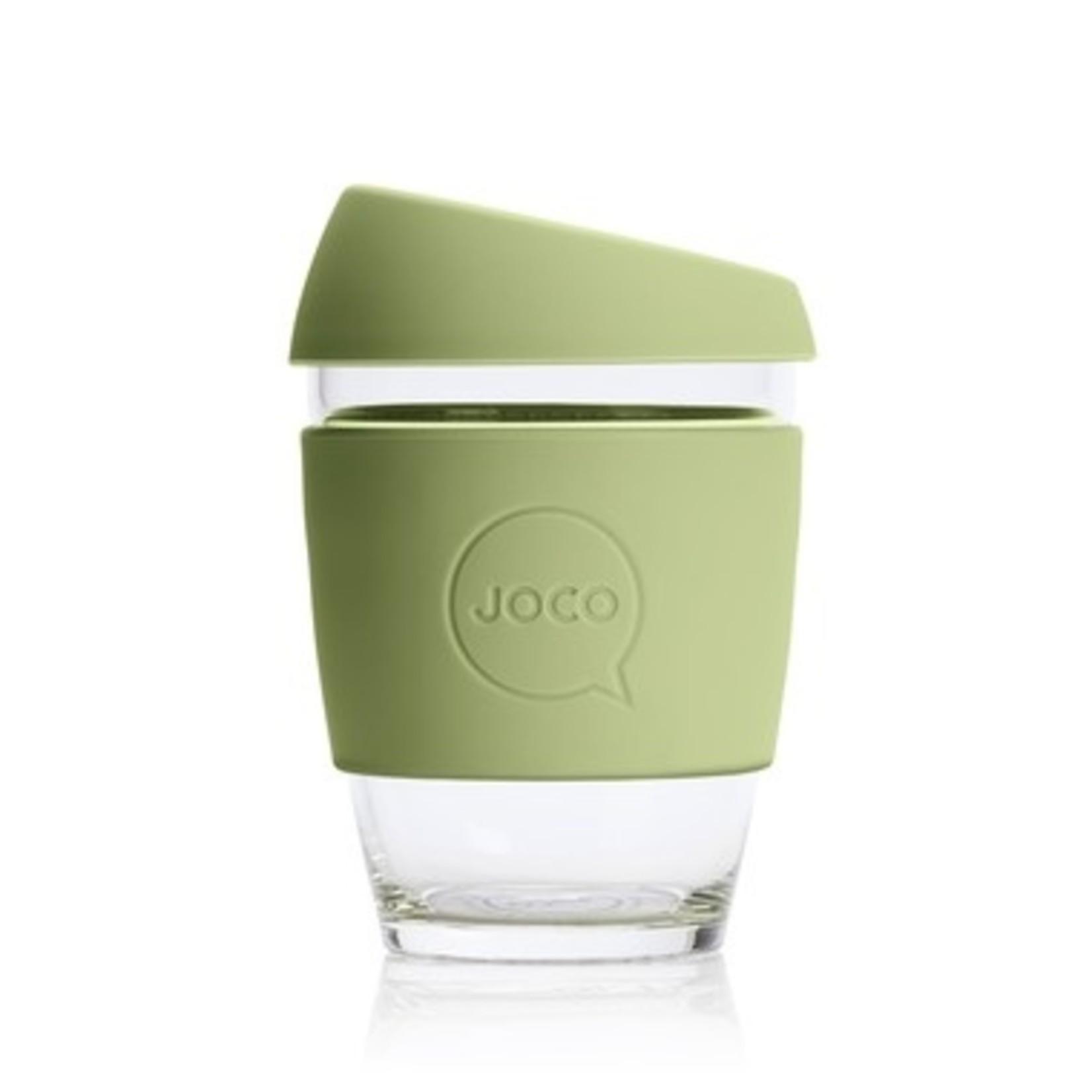 Joco Joco Reusable Glass Cup Army 12oz