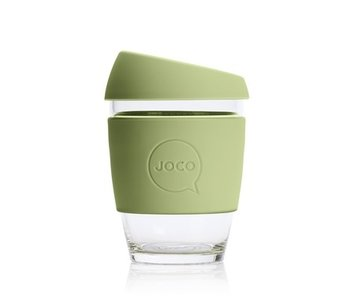 Joco Reusable Glass Cup Army 12oz