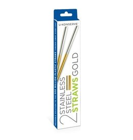 U Konserve U Konserve Stainless Steel Straw Gold- Set of 2