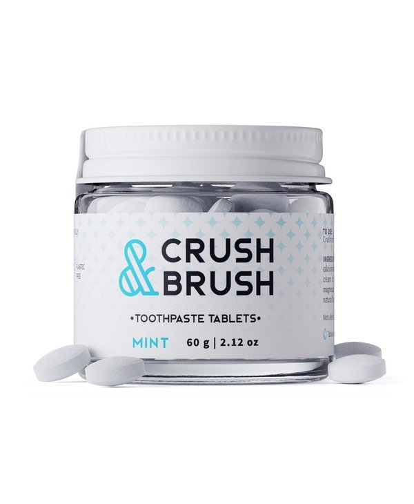 Nelson Naturals Crush and Brush Tablets Mint 60g