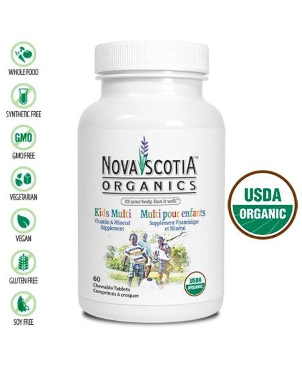 Nova Scotia Organics Kids Multi 60 tabs