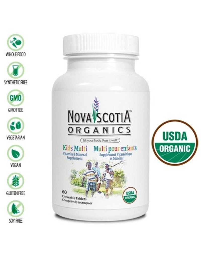 Nova Scotia Organics Nova Scotia Organics Kids Multi 60 tabs