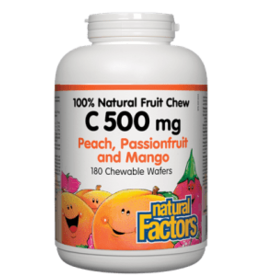 Natural Factors Natural Factors Vitamin C 500mg - Peach Passionfruit Mango 90 Chewables
