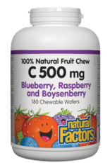 Natural Factors Natural Factors Vitamin C 500mg - Blueberry 90 Chewables
