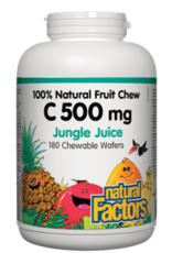 Natural Factors Natural Factors Vitamin C 500mg - Jungle Juice 90 Chewables