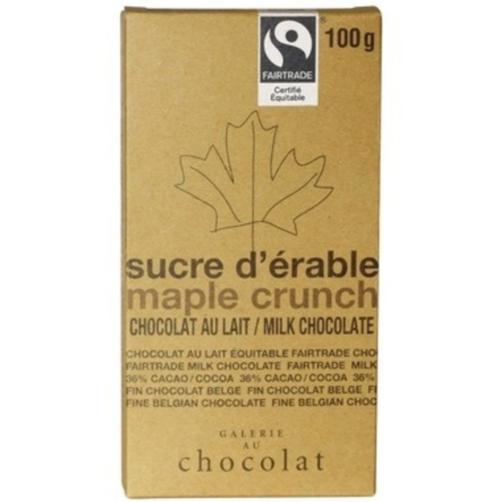 Galerie Au Chocolat Galerie Au Chocolat Maple Crunch 100g